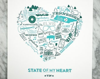 State of My Heart Tennessee Art Print