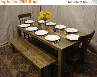"""ON SALE Driftwood Table (72""""L x 34""""W x 29""""H) & Bench (60 x 15 x 16h)"""