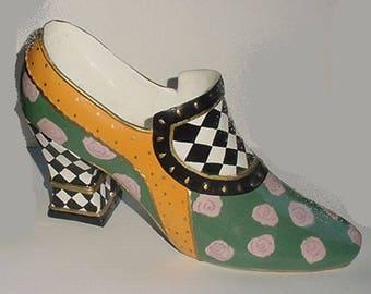 Shoe -A Very Large Decorative Shoe - Doorstop - Large 9 inch Size - Wonderful