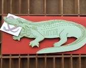 Later Alligator letterpress card