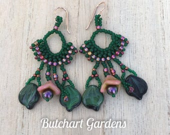 Butchart Gardens Chandelier Earrings