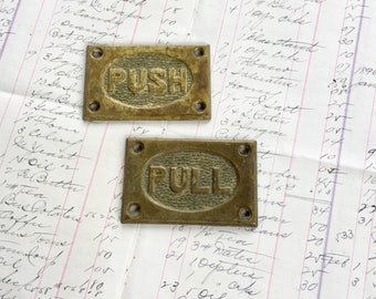 Antique Push Pull Brass Farmhouse Hardware Furniture Restoration