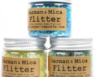 Iridescent Ice Flakes - Blue, Yellow, Green art glitter craft glitter decoration glitter artist glitter german glitter - Set 1- 311-M-0713