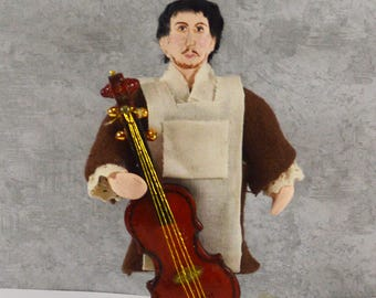 Antonio Stradivari Instrument Maker Italian Luthier Miniature Collectible Doll