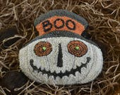 """Instant Download-PDF 170825 -""""BOO"""", a Ghostly JOL Companion - 4"""" tall -Punch Needle Bowl Fillers for Halloween Trick & Treats"""