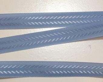 Vintage Copenhagen Blue Seam Binding 1/2 inch wide x 10 yards, Coats & Clark Seam Binding Tape, Light Blue Ribbon