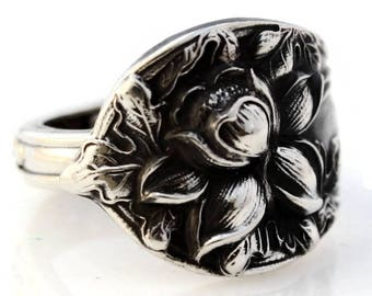 Spoon Ring Sterling Silver Daffodil Watson Floral Series #2 Size 6-10