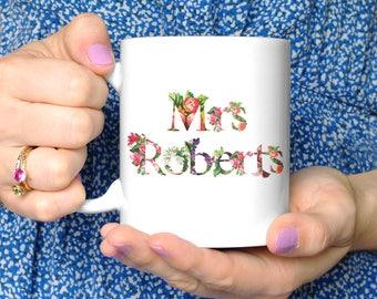 Personalised Thank You Teacher Mug