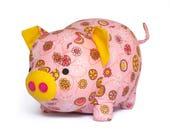 Cute pig plushie sewing pattern PDF