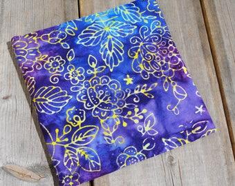 Reusable Snack Bag - Single Bag in Blue Batik