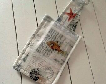 Keyring, Fish Keyring, handmade keyring, cotton fabric keyring, Gift For Her