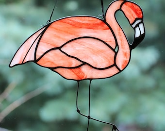 Flamingo Stained Glass Suncatcher