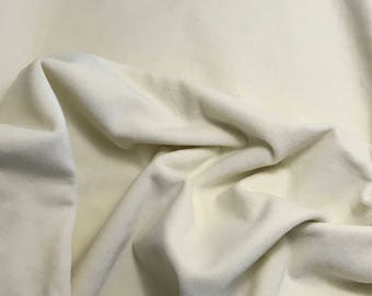 """Hand Dyed Cotton VELVETEEN Fabric ECRU fat 1/4 18""""x27"""" remnant"""