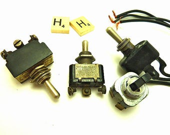 Four Vintage Toggle Switches