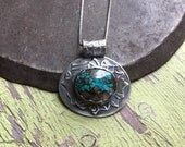 i am strong.  turquoise necklace