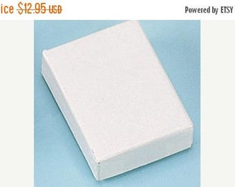 memorial day sale 50 Pack of 2.5X1.5X1 Inch Size White Cotton Filled Jewelry Gift Merchandise Boxes