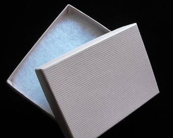 STOREWIDE SALE 20 Pack Light Pink Textured Cotton Filled Jewelry Gift Boxes 3.25 X 2.25 X 1 Inch Size