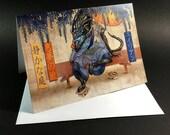 "Alien Zen Greeting Card- 5"" x 7"" greeting card with envelope-blank inside"