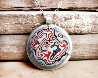 Fordite jewelry, fordite necklace, Detroit Agate necklace, statement necklace, gift for her, gift for wife, gemstone jewelry