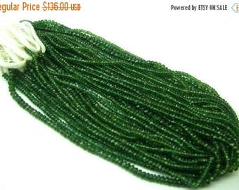 50% Off Sale 30 Percent Discount  Sale AAA Genuine Deep Green Kyanite Micro Faceted Rondelles Size 3 - 3.5mm Length 14 Inches