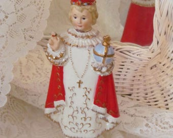 Vintage Infant Christ Child of Prague - Napcoware Porcelain Made in Japan. Excellent
