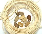 River Stones RAFFIA Pixie Pebbles Beach Rocks Beads Jewelry Stone Tiny Tapers Dangle Charms Eco Friendly Mix Organic Supply