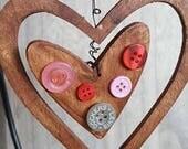 Rustic Handmade Ornaments Hearts Stars