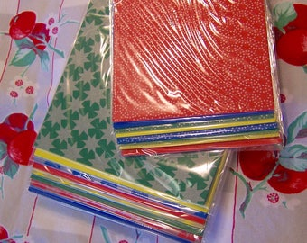 assorted origami paper supply