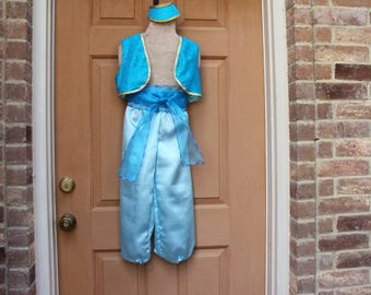Shimmer Shine Costume, Genies in Training, pants, vest, sash, pony tail cap girls 5/6