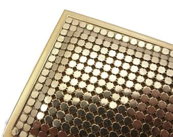 Gold Mesh Card Case - Metal Wallet Metal Mesh Business Card Holder