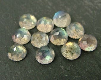 Labradorite Rose Cut Round Cabochon Gemstone ~ Various Sizes