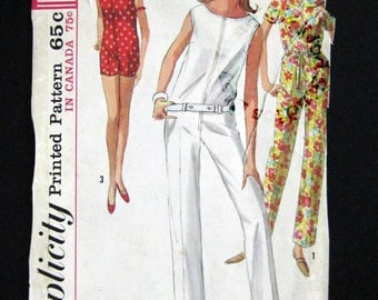 1965 Simplicity pattern 6017 One piece jump suit size 14 bust 34