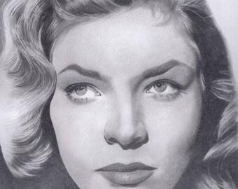 Lauren Bacall original drawing