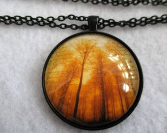 Powerful Forest TREES Cabochon PENDANT Necklace