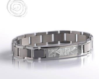 Gibeon Meteorite Bracelet, Modular Steel Bracelet Set, Space Jewelry, Interchangeable Bracelet