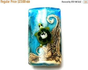 ON SALE 35% OFF 11834703 Turtle Cove Kalera Bead - Glass Lampwork Bead