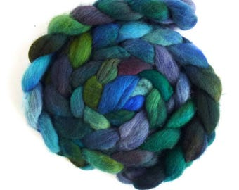 Second Quality Braids: Falkland Wool Roving - Hand Dyed Spinning or Felting Fiber Fiber, Set 15, 4 ounces
