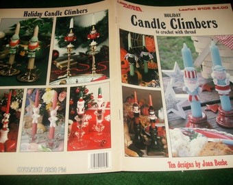 Thread Crocheting Patterns Holiday Candle Climbers Leisure Arts 2105 Crochet Pattern Leaflet