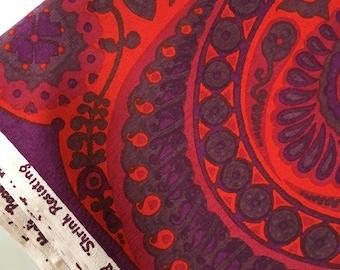 Retro Heals Barkcloth Fabric 'Pageant' by Jyoto Bhomic