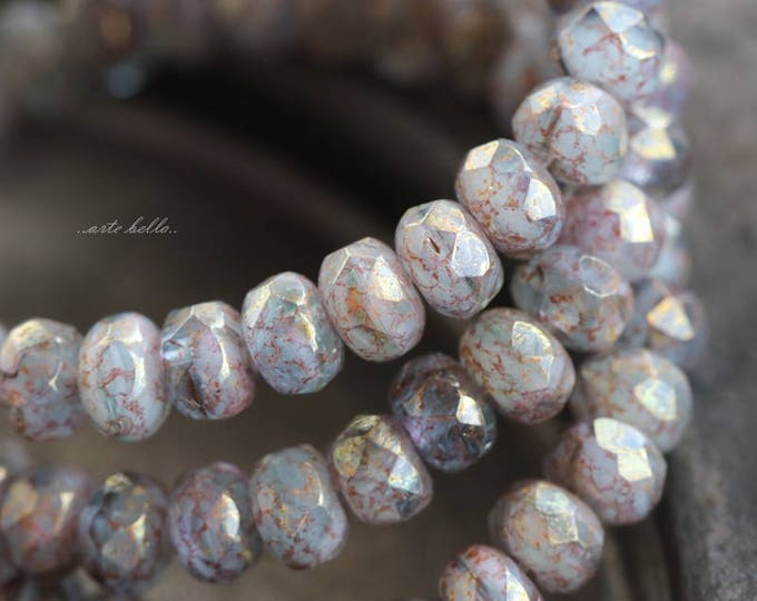 HUSH BABIES .. 30 Picasso Czech Faceted Rondelle Beads 3x5mm (5866-st)