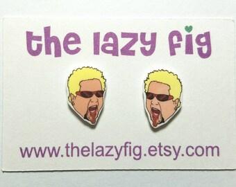 Guy Fieri - stud earrings