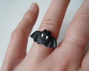 Ring - Black bat