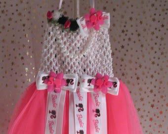 GLAMOUR GAL Hot Pink Tutu Style Hair Clip Holder-Super Sale