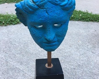 1980 Alva Studio Productions Face Sculpture