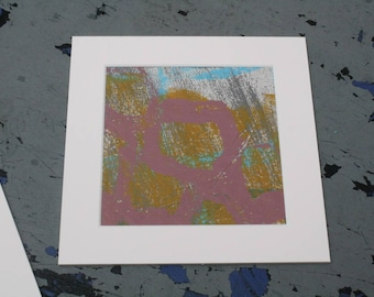 Isolated Moment #36: Original Abstract Painting on Paper