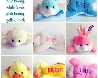 Personalized easter etsy easter basket filler personalized easter stuffed animal personalized plush easter plush baby negle Image collections