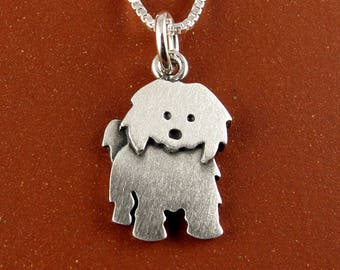 Tiny Coton de Tulear necklace / pendant