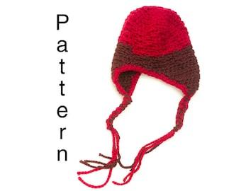 Earflap Pattern, Chunky Earflap Hat Crochet Pattern, Instant Download, Helmet Hat PDF Pattern, Aviator Hat Pattern