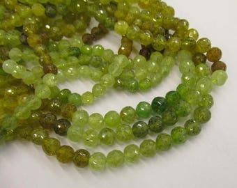20% OFF SALE Natural Grossular Green Garnet 5mm Round Beads, Natural Garnet Green Gemstone