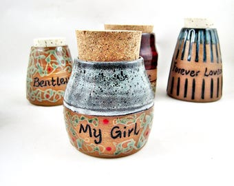 Pet Urn Ready to ship, Ceramic Urn, Handmade Urn for pre-cremation weight up 14 lb - In stock